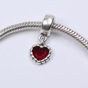 Pandora Jewelry - Authentic PANDORA Red Enamel Beaded Heart Dangle